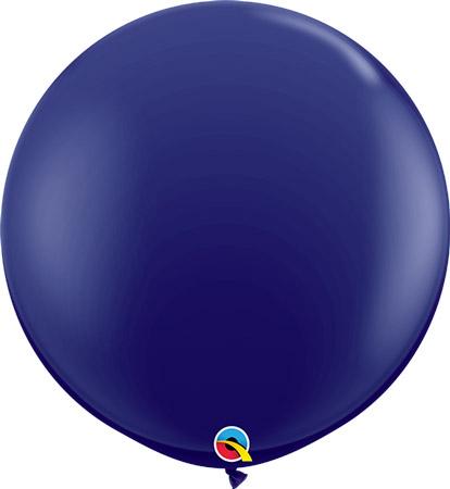 Globo de 80 centímetros, en color azul oscuro de la marca Qualatex