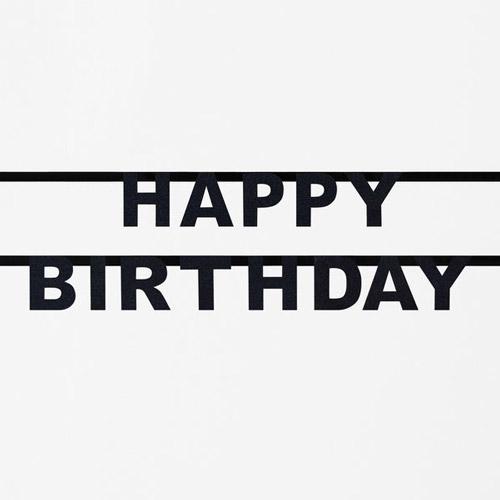 Guirnalda de letras negras formando la palabra Happy Birthday diseñada por My Little Day