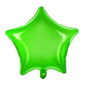 Fantásticos globos de foil transparente de color verde, para crear decoraciones espectaculares.