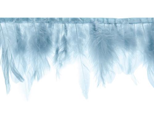 Guirnalda de 1 metro con plumas azul. Esta guirnalda es ideal para decorar una habitación o una fiesta al aire libre