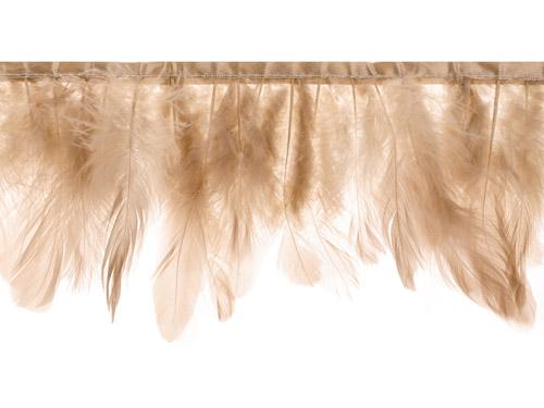 Guirnalda de 1 metro con plumas beige rosa.