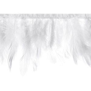 Guirnalda de 1 metro con plumas blancas.