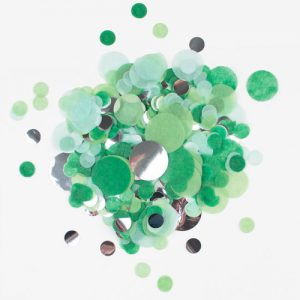 Confetti en diferentes tonalidades de verde diseñado por My Little Day.