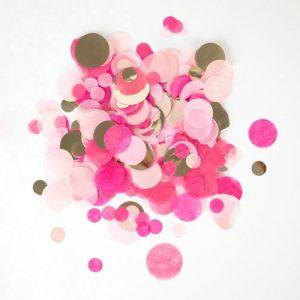 Confetti en diferentes tonalidades de rosa diseñado por My Little Day.