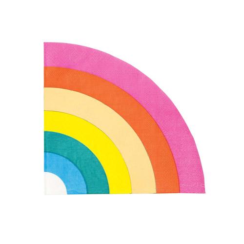 16 servilletas en forma de arco iris Estas servilletas son ideales para fiestas y cumpleaños