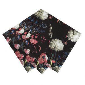 16 servilletas con estampado de estilo barroco. Estas servilletas son ideales para una fiesta temática.
