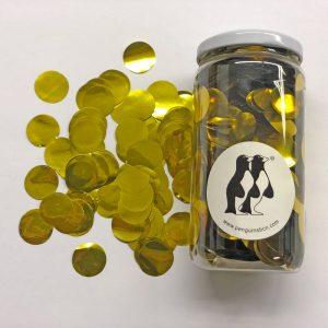 Confetti de color dorado.Ideal para bodas, cumpleaños, bautizos o fiestas.