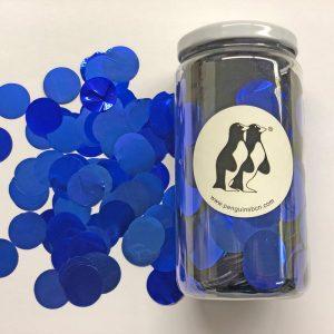 Confetti de color azul.Ideal para bodas, cumpleaños, bautizos o fiestas.