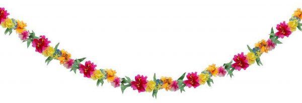 Guirnalda con flores en diferentes colores diseñada por Meri Meri.Es ideal para decorar una fiesta al aire libre o para fiestas inspiradas en la primavera.