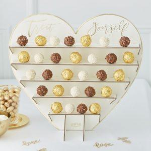 Soporte para golosinas de oro para crear su propio rincón de dulces.