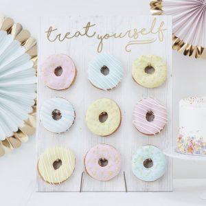 Perfecto soporte de donuts para tu baby shower y fiestas de princesas.