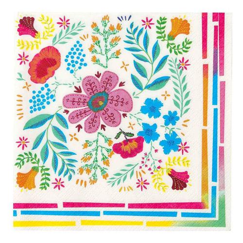 20 servilletas con flores diseñadas por Talking tables. Estas servilletas son ideales para fiestas de primavera.