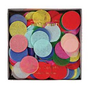 Confetti multicolor diseñado por Meri Meri. Ideal para bodas, cumpleaños o bautizos.