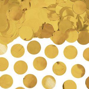 Confetti de color dorado metálico de 2,5 cm. Ideal para bodas, cumpleaños, bautizos o fiestas.