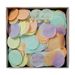 Confetti metálico diseñado por Meri Meri. Ideal para bodas, cumpleaños o bautizos.