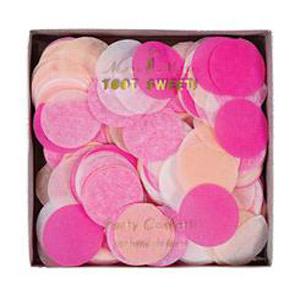 Confetti en tonos rosas diseñado por Meri Meri. Ideal para bodas, cumpleaños o bautizos.