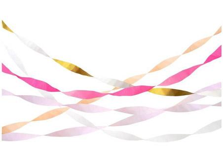 5 Serpentinas de 10m cada una. Estas lindas serpentinas rosas agregarán un hermoso toque de color a cualquier tipo de fiesta.