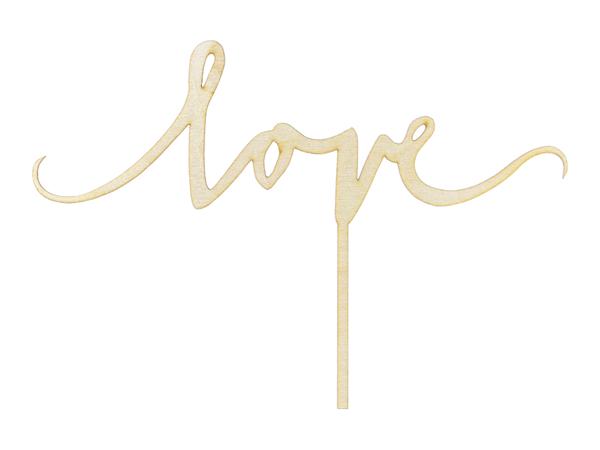 Cake Toppers de madera en forma de LOVE. Este Topper de LOVE es perfecto para dar un toque de amor a tus pasteles.