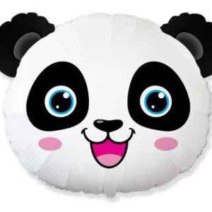 Globo de foil, en forma de Oso Panda, ideal para poder hacer una fiesta inspirada con animales exóticos, con una capacidad de 0,040m3 de helio. El precio no incluye el hinchado con helio.